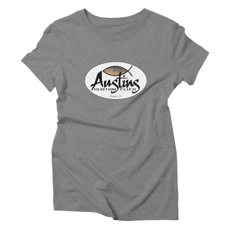 Austins Custom Flies Women's Triblend T-Shirt by Boneyard Studio - Boneyard Fly Gear