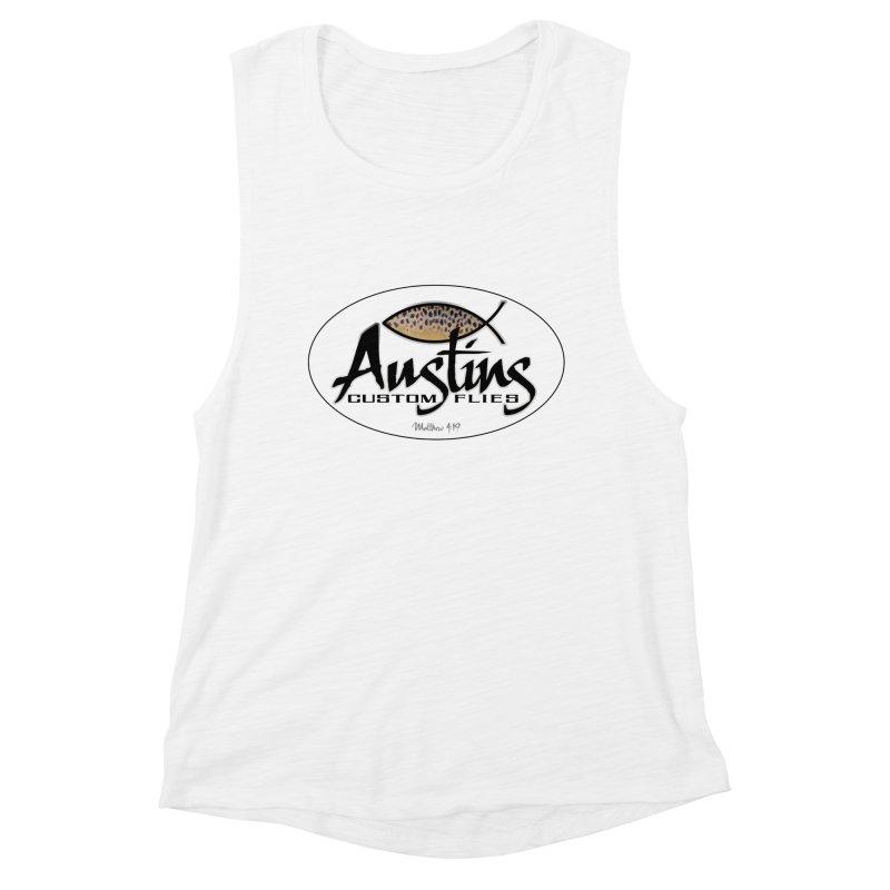 Austins Custom Flies Women's Muscle Tank by Boneyard Studio - Boneyard Fly Gear