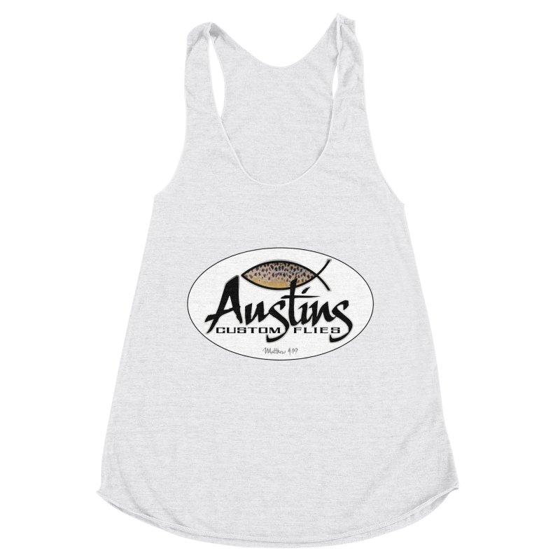 Austins Custom Flies Women's Racerback Triblend Tank by Boneyard Studio - Boneyard Fly Gear