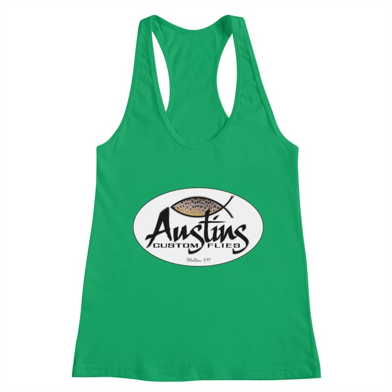 Austins Custom Flies Women's Racerback Tank by Boneyard Studio - Boneyard Fly Gear