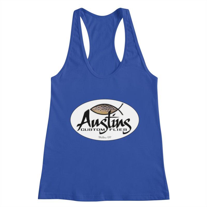 Austins Custom Flies Women's Racerback Tank by Boneyard Studio - Boneyard Fly Gear