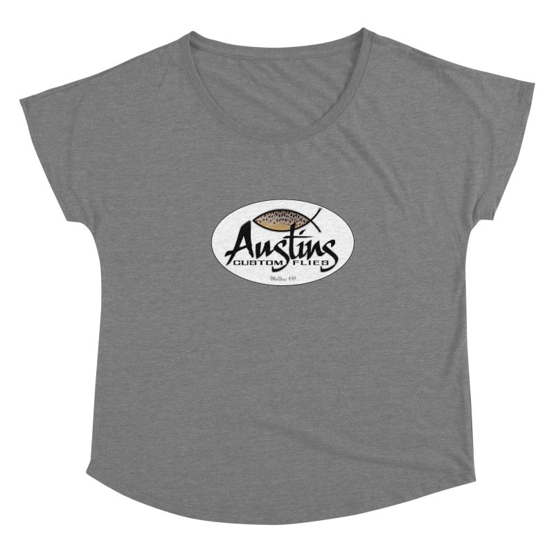 Austins Custom Flies Women's Scoop Neck by Boneyard Studio - Boneyard Fly Gear