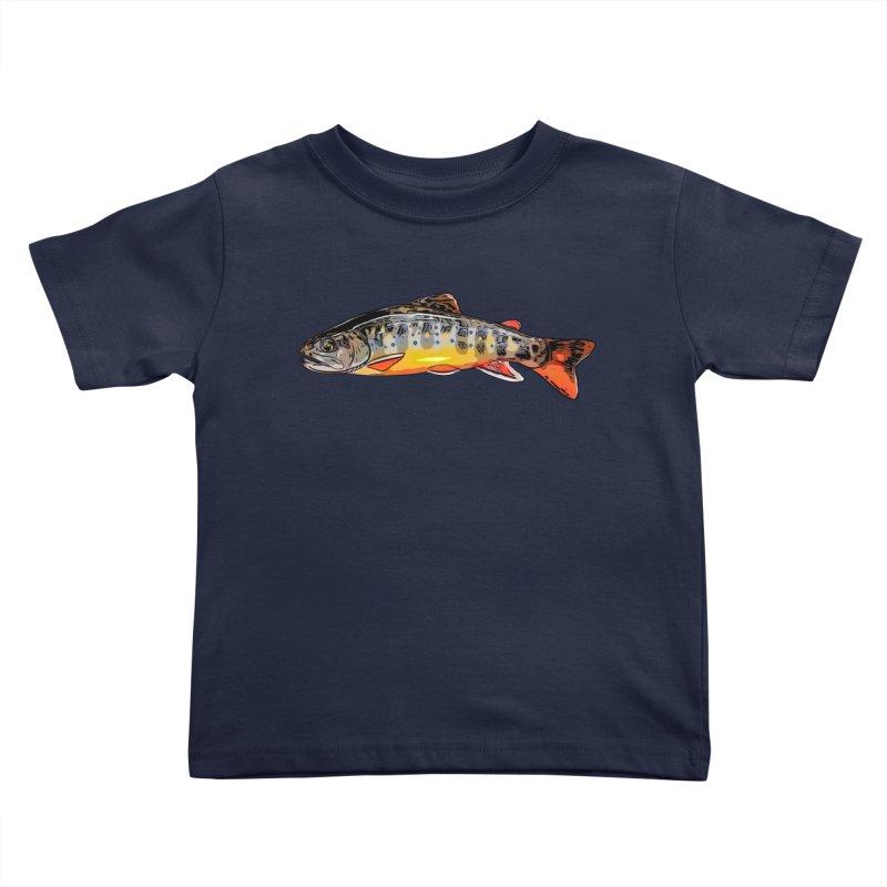 Baby brook Kids Toddler T-Shirt by Boneyard Studio - Boneyard Fly Gear