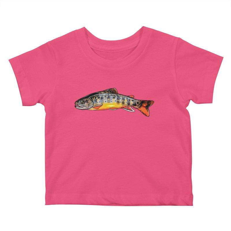 Baby brook Kids Baby T-Shirt by Boneyard Studio - Boneyard Fly Gear