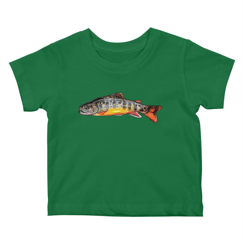 Baby brook Kids Baby T-Shirt by Boneyard Studio - Boneyard Fly Gear