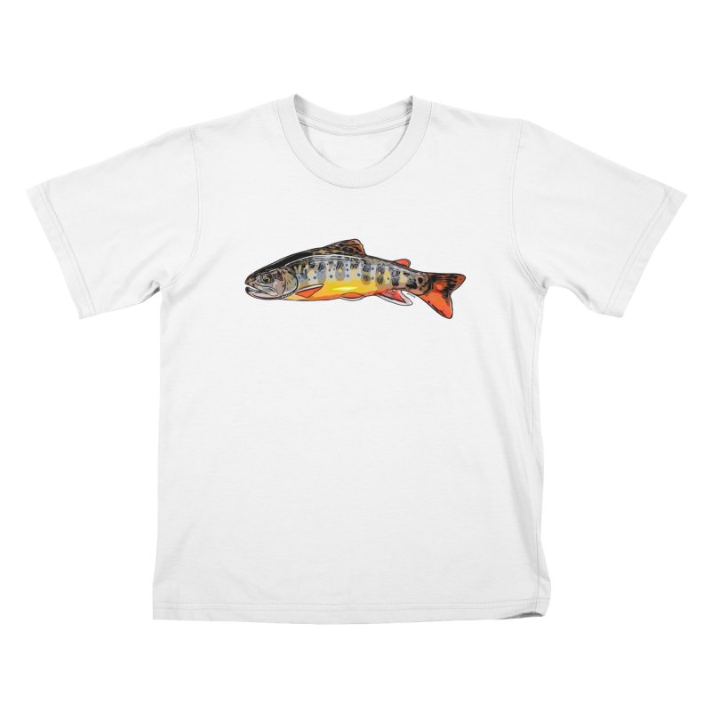 Baby brook Kids T-Shirt by Boneyard Studio - Boneyard Fly Gear