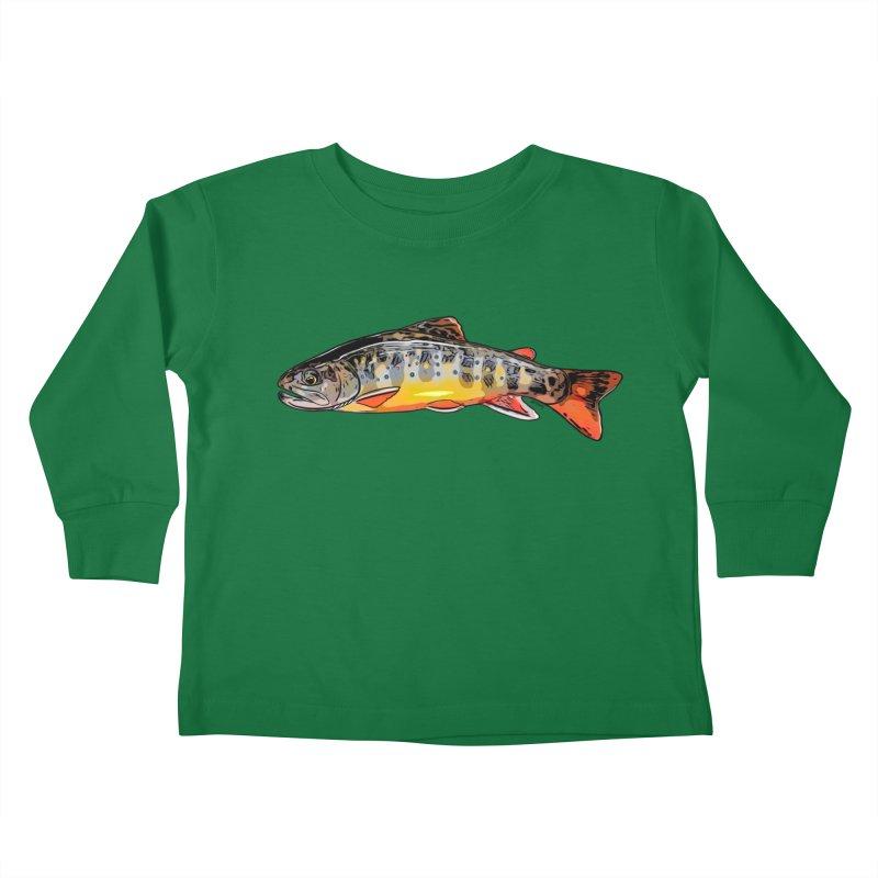 Baby brook Kids Toddler Longsleeve T-Shirt by Boneyard Studio - Boneyard Fly Gear