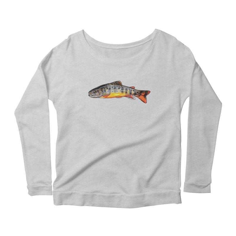 Baby brook Women's Scoop Neck Longsleeve T-Shirt by Boneyard Studio - Boneyard Fly Gear