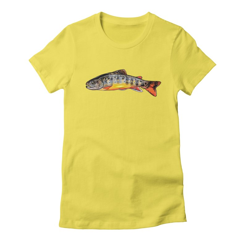 Baby brook Women's Fitted T-Shirt by Boneyard Studio - Boneyard Fly Gear