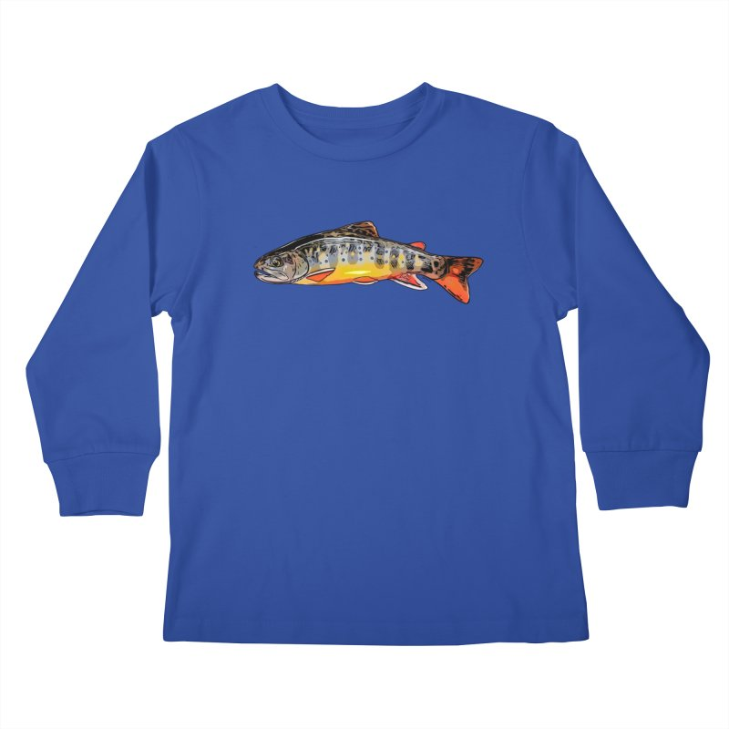 Baby brook Kids Longsleeve T-Shirt by Boneyard Studio - Boneyard Fly Gear