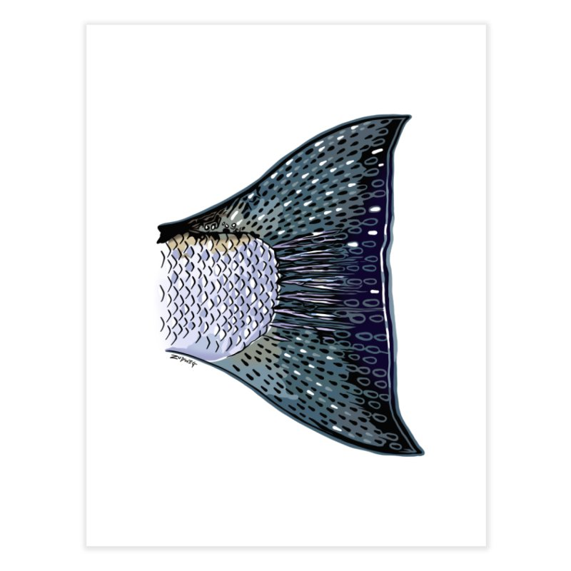 Steelhead Tail Fine Art Home Fine Art Print by Boneyard Studio - Boneyard Fly Gear