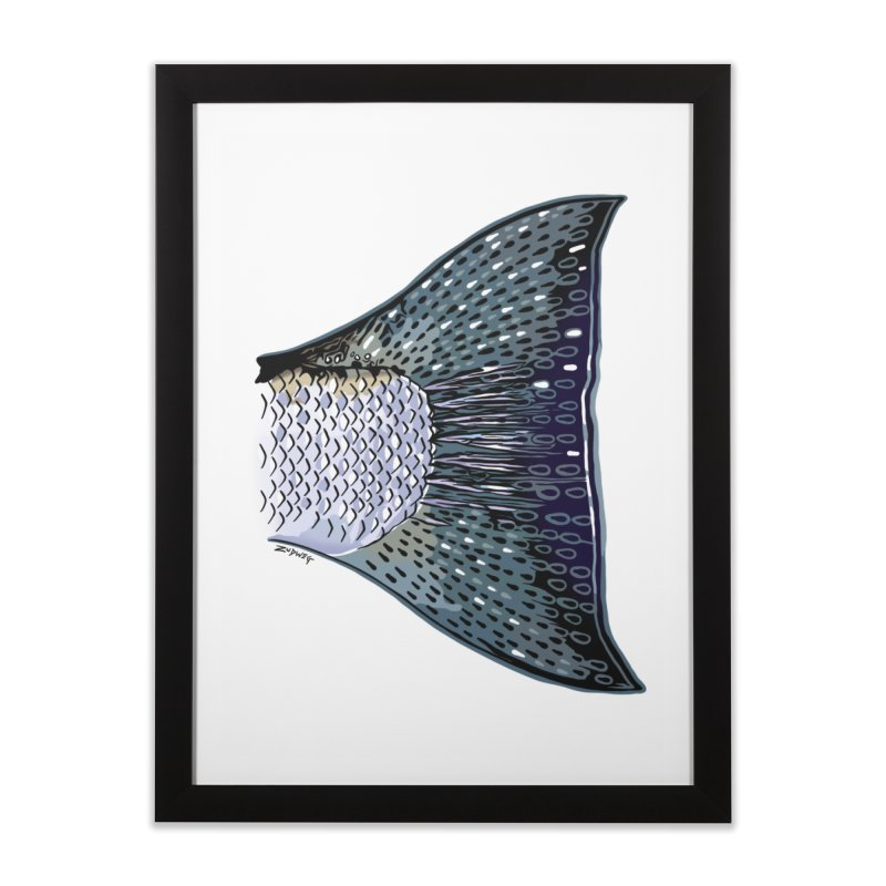 Steelhead Tail Fine Art Home Framed Fine Art Print by Boneyard Studio - Boneyard Fly Gear