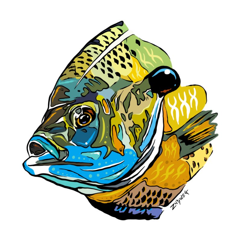Bluegill F1 Home Framed Fine Art Print by Boneyard Studio - Boneyard Fly Gear