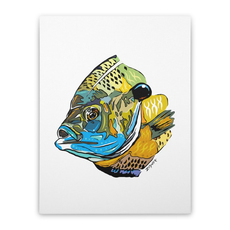 Bluegill F1 Home Stretched Canvas by Boneyard Studio - Boneyard Fly Gear