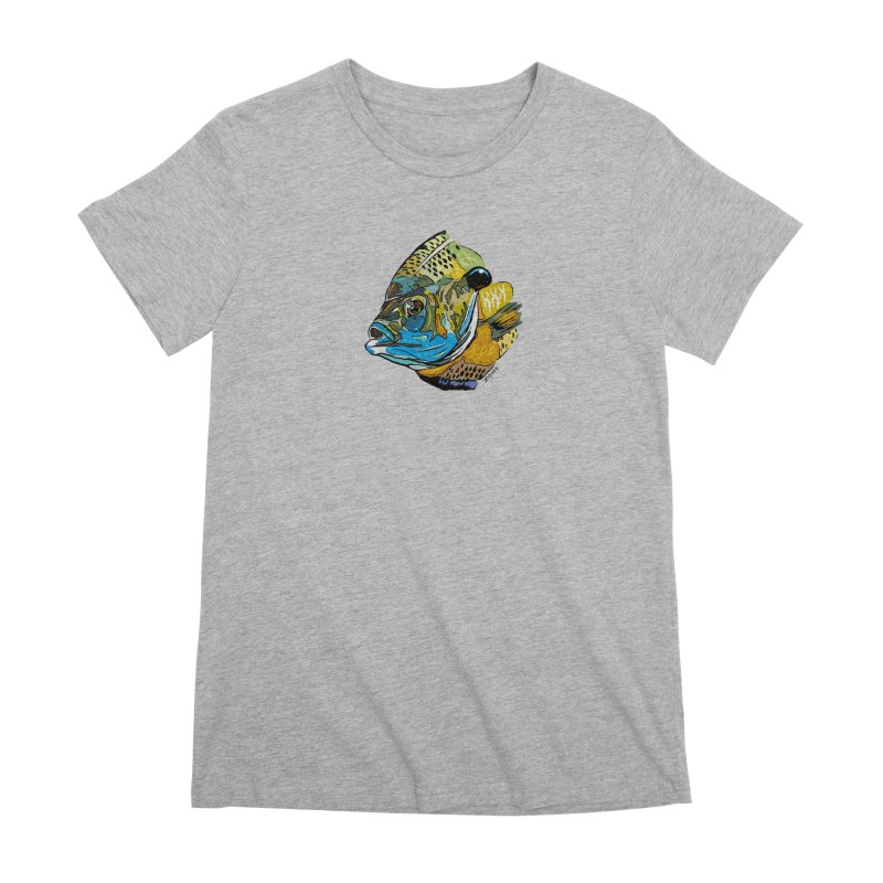Bluegill F1 Women's Premium T-Shirt by Boneyard Studio - Boneyard Fly Gear