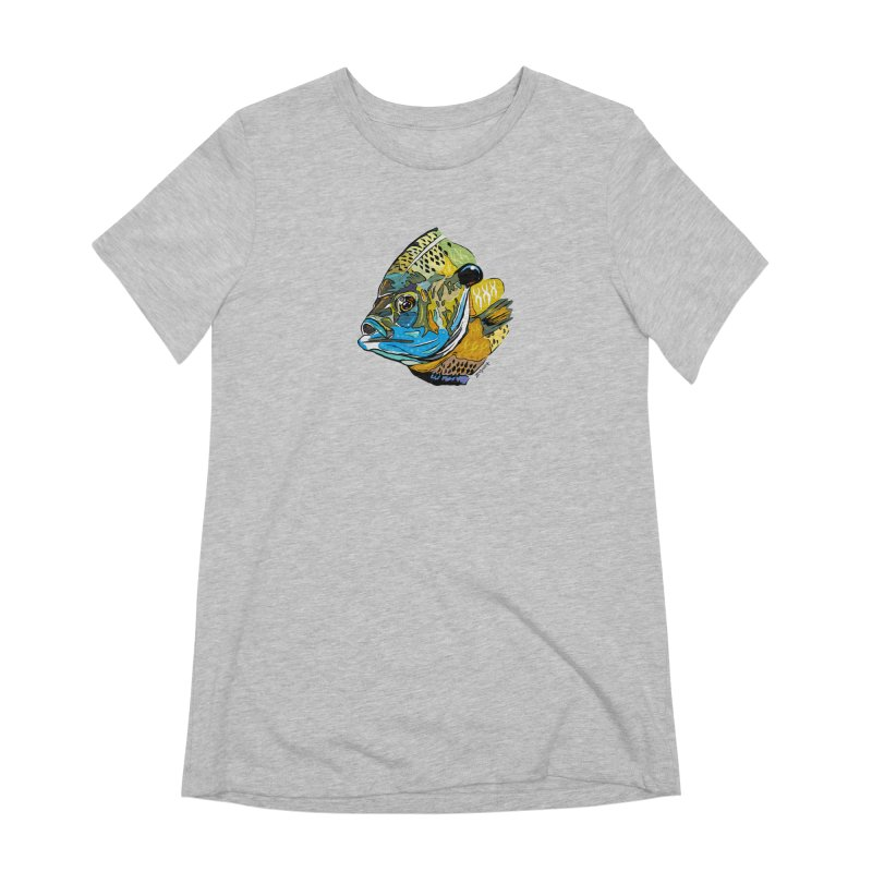 Bluegill F1 Women's Extra Soft T-Shirt by Boneyard Studio - Boneyard Fly Gear