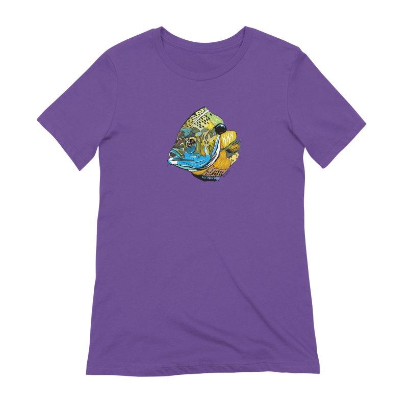 Bluegill F1 Women's Extra Soft T-Shirt by Boneyard Studio - Boneyard Fly Gear