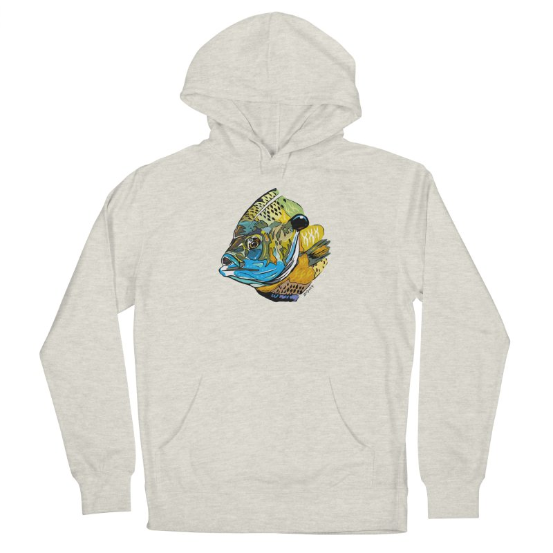 Bluegill F1 in Men's French Terry Pullover Hoody Heather Oatmeal by Boneyard Studio - Boneyard Fly Gear
