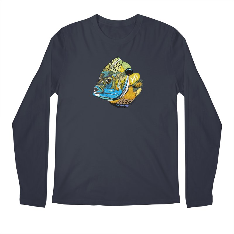 Bluegill F1 Men's Regular Longsleeve T-Shirt by Boneyard Studio - Boneyard Fly Gear