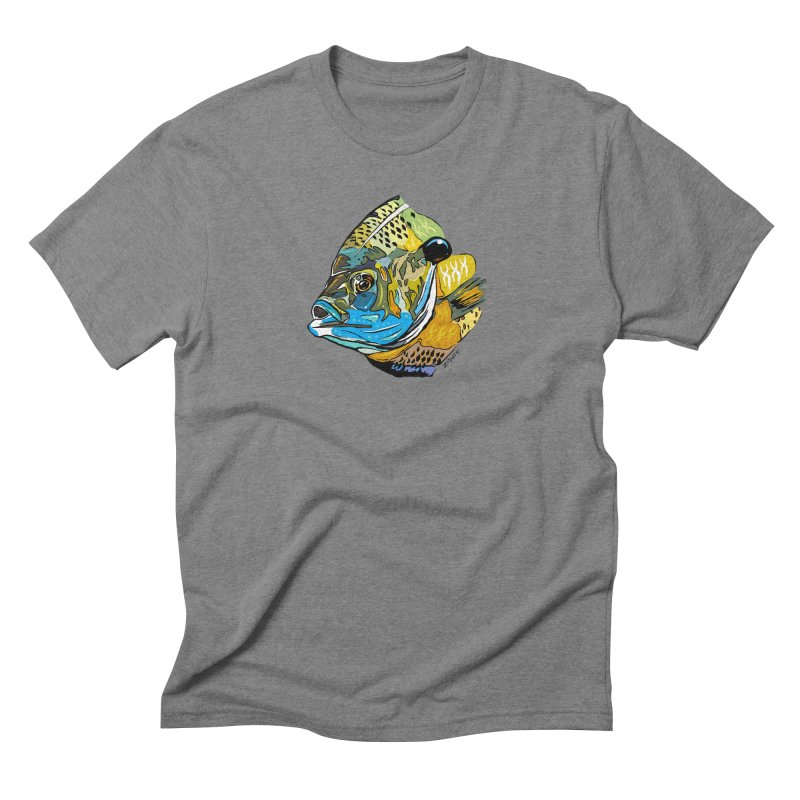 Bluegill F1 Men's Triblend T-Shirt by Boneyard Studio - Boneyard Fly Gear