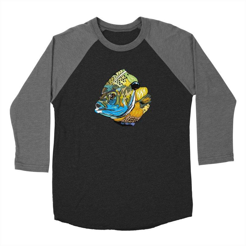Bluegill F1 Men's Baseball Triblend Longsleeve T-Shirt by Boneyard Studio - Boneyard Fly Gear