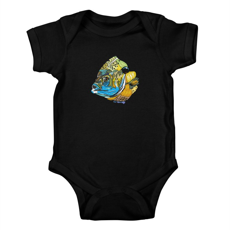 Bluegill F1 Kids Baby Bodysuit by Boneyard Studio - Boneyard Fly Gear
