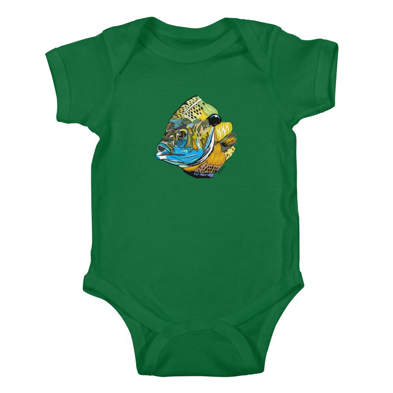 Bluegill F1 Kids Baby Bodysuit by Boneyard Studio - Boneyard Fly Gear