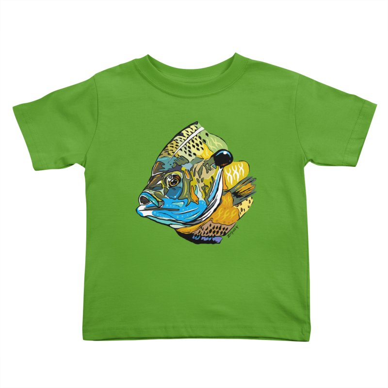 Bluegill F1 Kids Toddler T-Shirt by Boneyard Studio - Boneyard Fly Gear