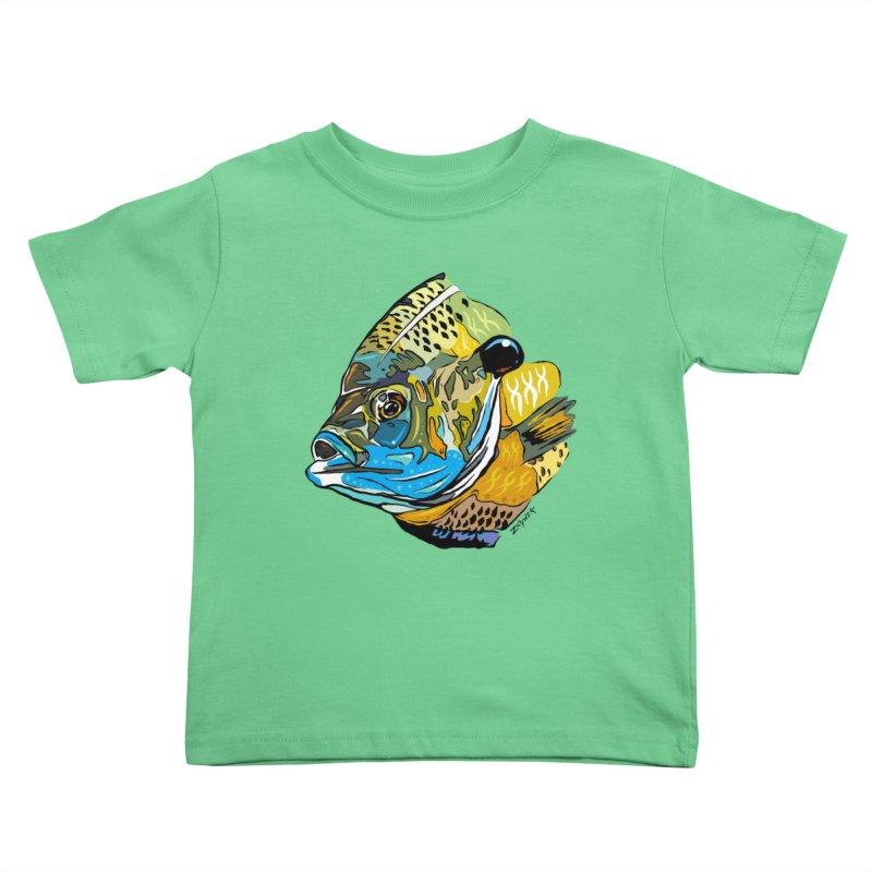 Bluegill F1 Kids Toddler T-Shirt by Boneyard Studio - Boneyard Fly Gear