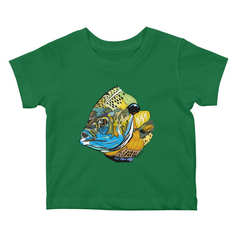 Bluegill F1 Kids Baby T-Shirt by Boneyard Studio - Boneyard Fly Gear