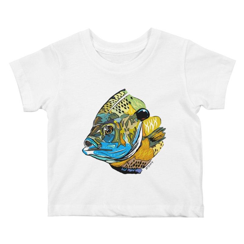 Bluegill F1 Kids Baby T-Shirt by Boneyard Studio - Boneyard Fly Gear