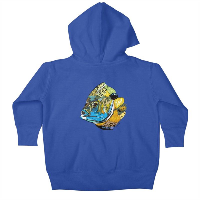 Bluegill F1 Kids Baby Zip-Up Hoody by Boneyard Studio - Boneyard Fly Gear
