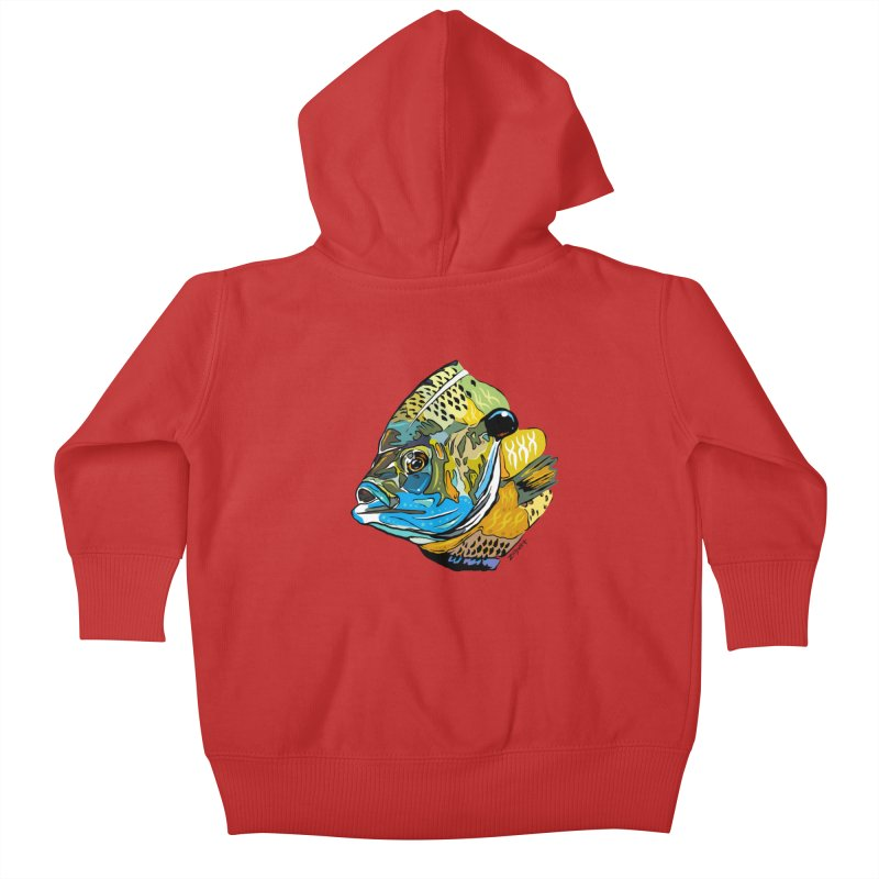 Bluegill F1 Kids Baby Zip-Up Hoody by Boneyard Studio - Boneyard Fly Gear
