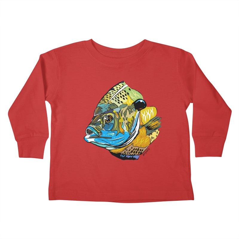 Bluegill F1 Kids Toddler Longsleeve T-Shirt by Boneyard Studio - Boneyard Fly Gear