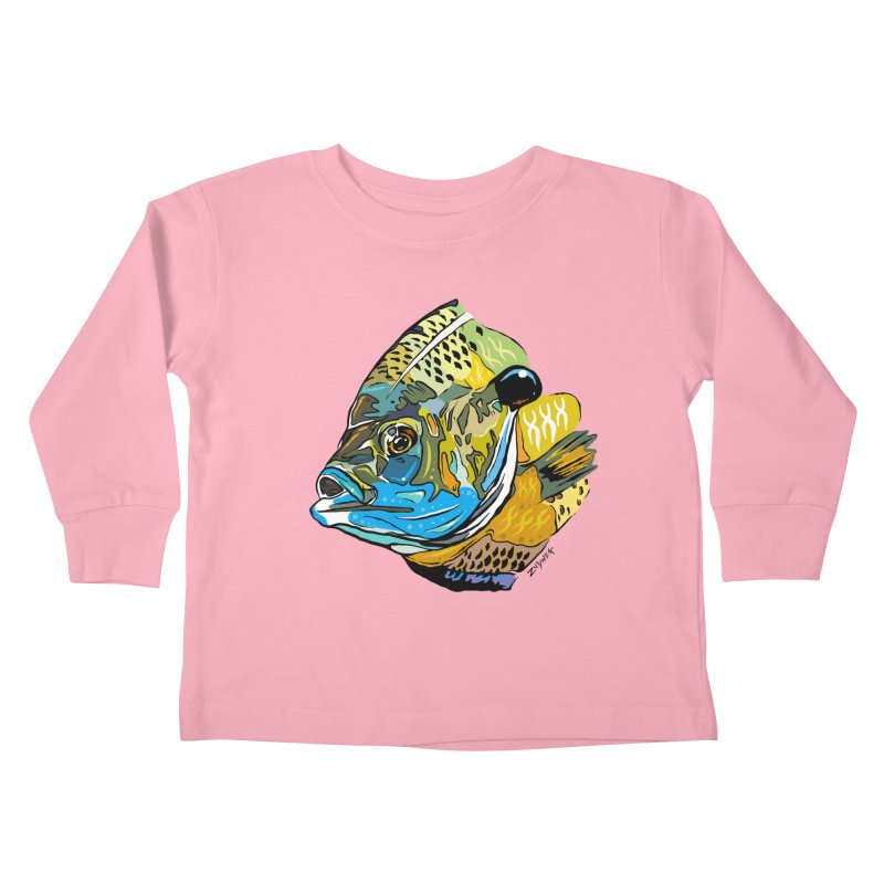 Bluegill F1 Kids Toddler Longsleeve T-Shirt by Boneyard Studio - Boneyard Fly Gear