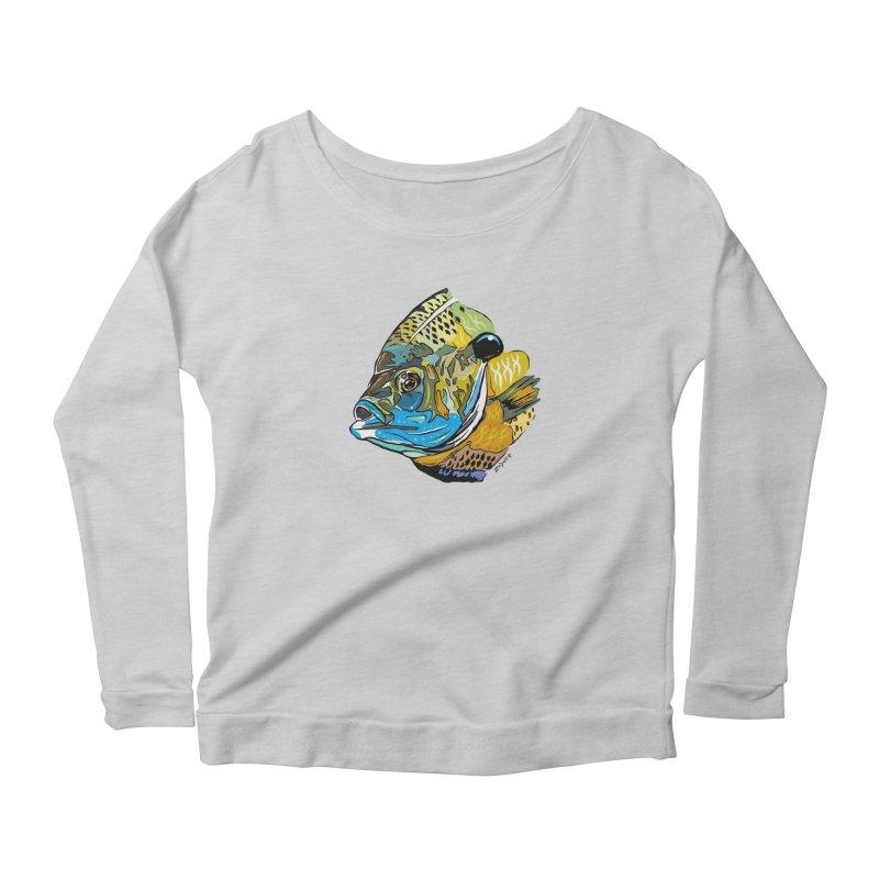Bluegill F1 Women's Scoop Neck Longsleeve T-Shirt by Boneyard Studio - Boneyard Fly Gear