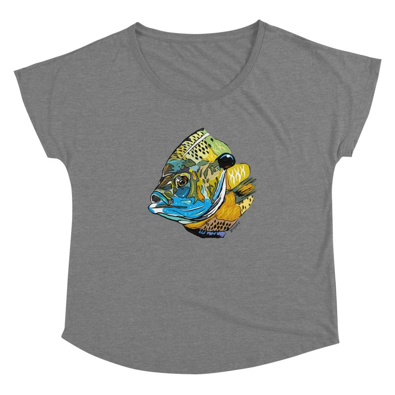 Bluegill F1 Women's Scoop Neck by Boneyard Studio - Boneyard Fly Gear