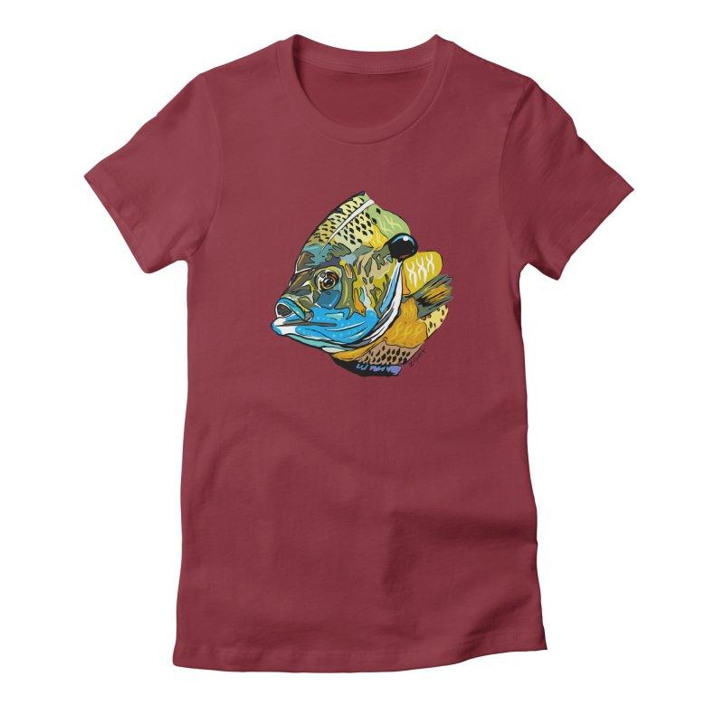 Bluegill F1 Women's Fitted T-Shirt by Boneyard Studio - Boneyard Fly Gear