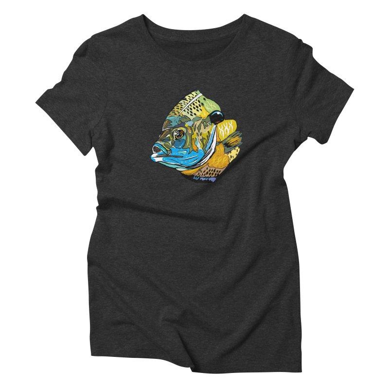 Bluegill F1 Women's Triblend T-Shirt by Boneyard Studio - Boneyard Fly Gear