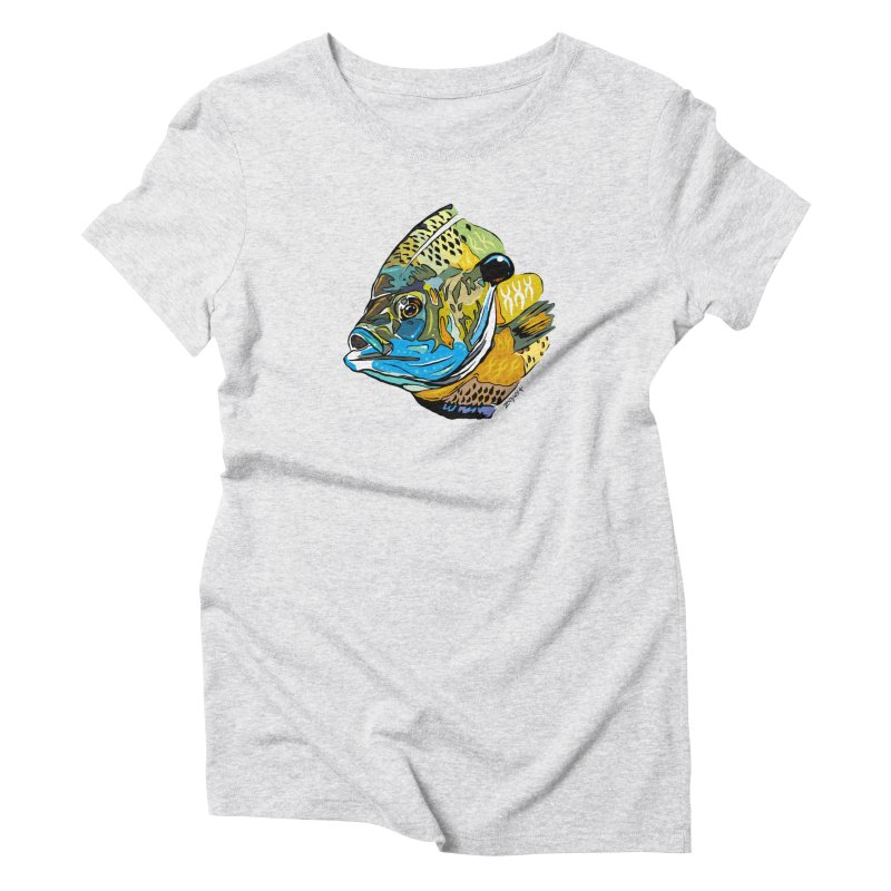 Bluegill F1 Women's Triblend T-Shirt by Boneyard Studio - Boneyard Fly Gear