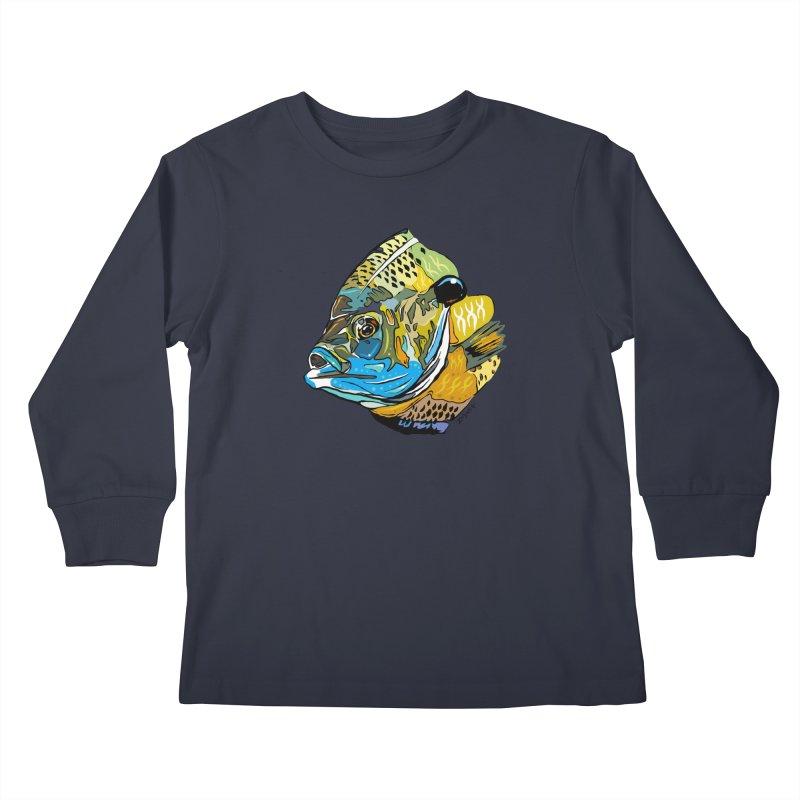 Bluegill F1 Kids Longsleeve T-Shirt by Boneyard Studio - Boneyard Fly Gear