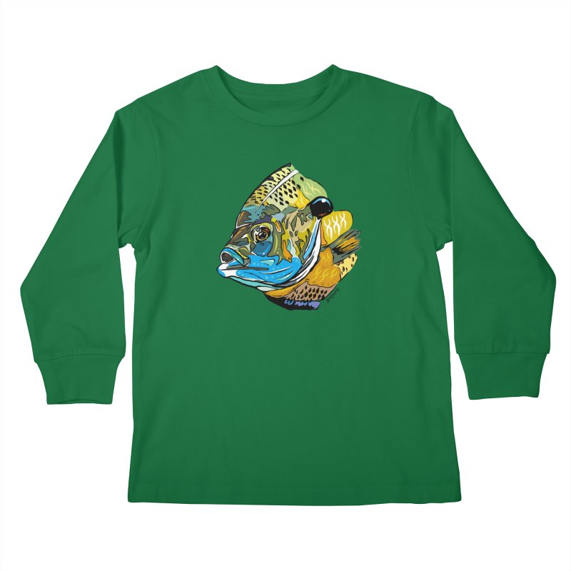Bluegill F1 Kids Longsleeve T-Shirt by Boneyard Studio - Boneyard Fly Gear