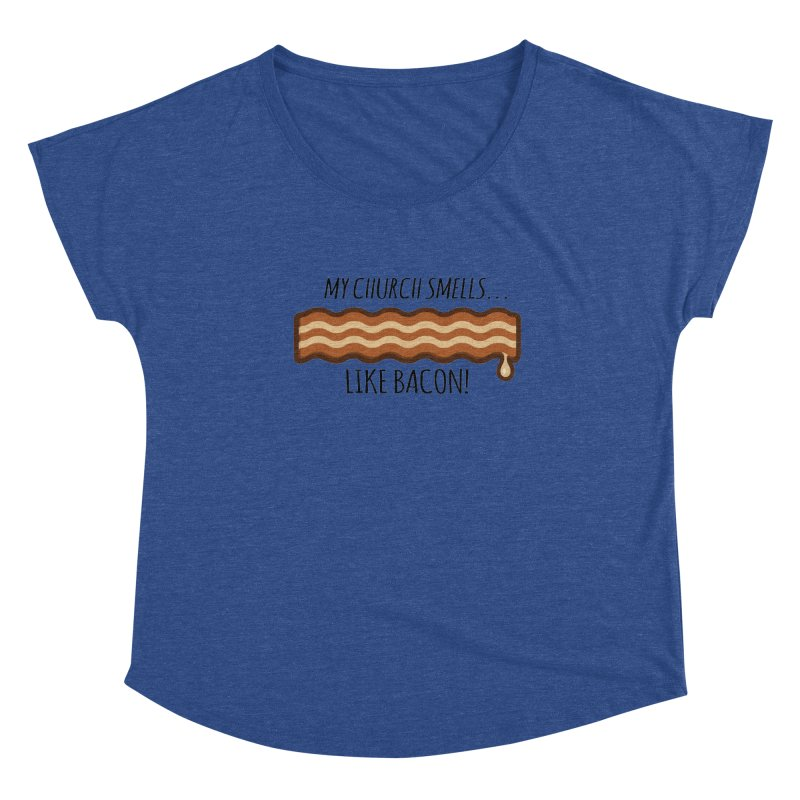 My Church Smells like Bacon! Women's Scoop Neck by Boneyard Studio - Boneyard Fly Gear