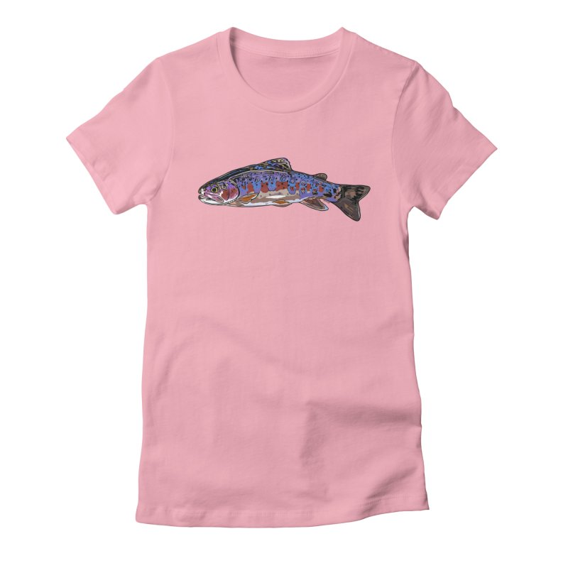 Rainbow 2018 Women's Fitted T-Shirt by Boneyard Studio - Boneyard Fly Gear