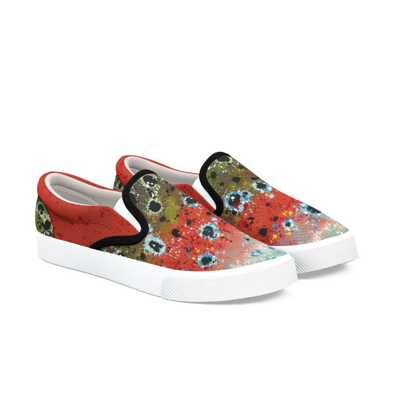 Rainbow Trout/Steelhead Slip-ons 2019 Women's Slip-On Shoes by Boneyard Studio - Boneyard Fly Gear