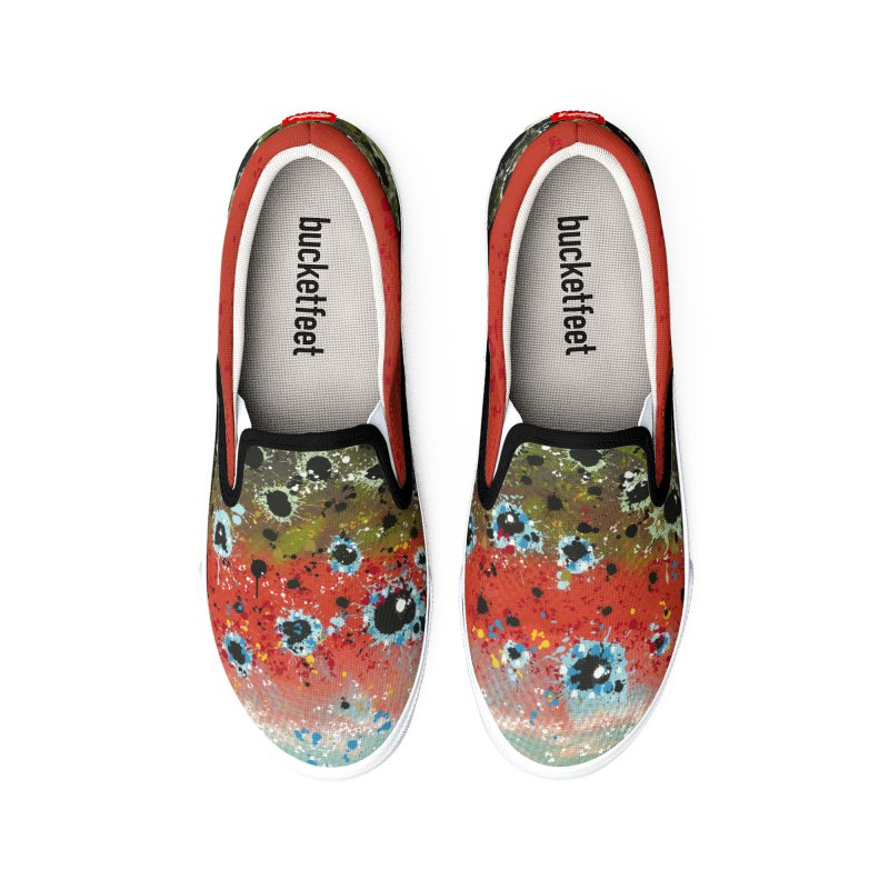 Rainbow Trout/Steelhead Slip-ons 2019 Women's Shoes by Boneyard Studio - Boneyard Fly Gear