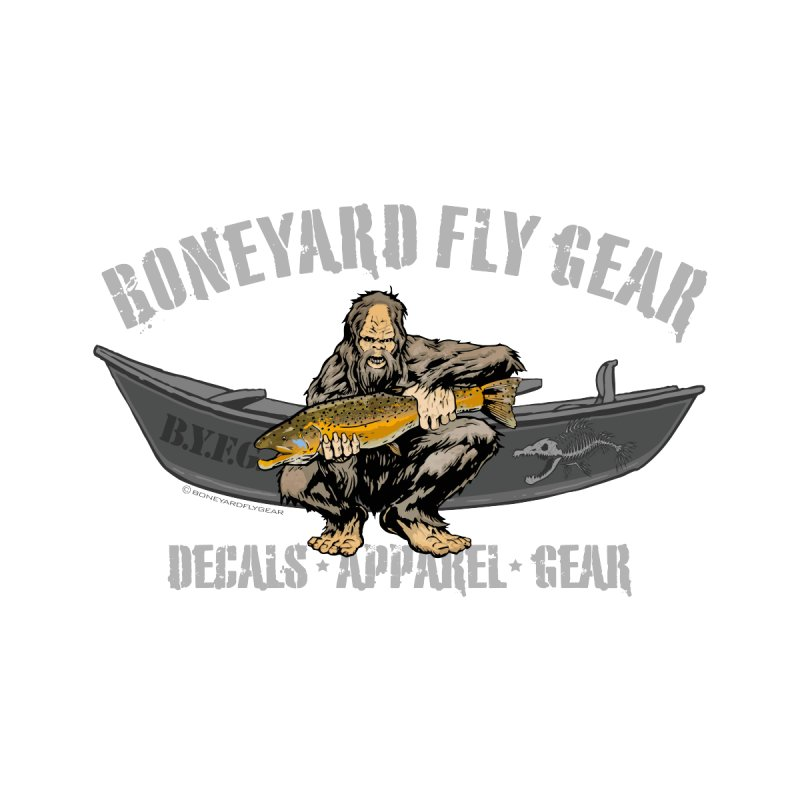 BYFG Squatch Logo 2019   by Boneyard Studio - Boneyard Fly Gear