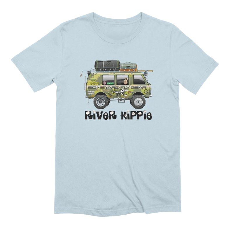 River Hippie Men's T-Shirt by Boneyard Studio - Boneyard Fly Gear