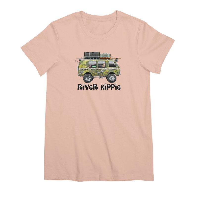 River Hippie Women's Premium T-Shirt by Boneyard Studio - Boneyard Fly Gear