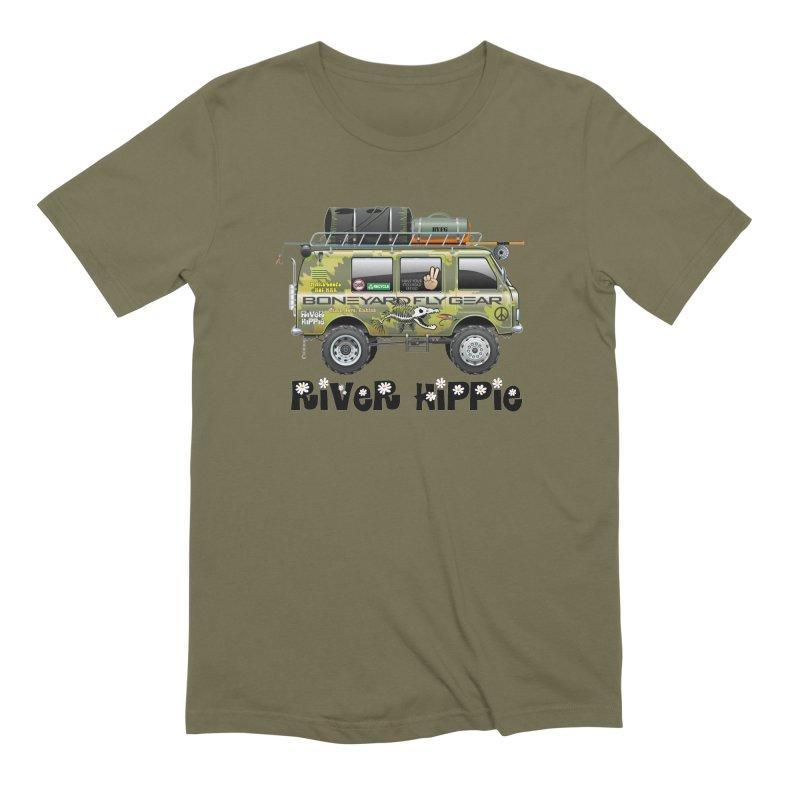 River Hippie Men's Extra Soft T-Shirt by Boneyard Studio - Boneyard Fly Gear